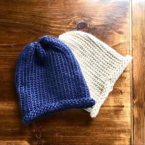 Accessories - Bundle of two hand crochet loose weave hats